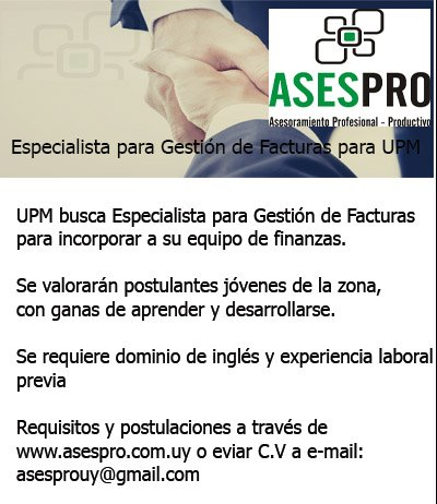 ASESPRO LLAMADO ESPECIALISTA GESTION DE FACTURAS